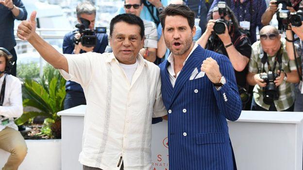 Durán y el actor Édgar Ramírez