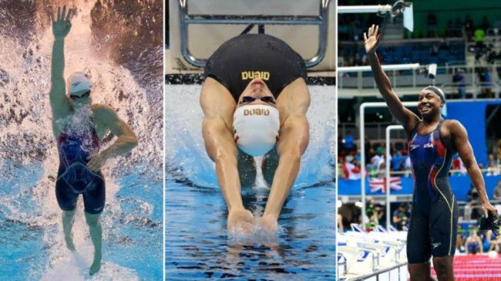 Katie Ledecky, Katinka Hosszu e Simone Manuel nas piscinas