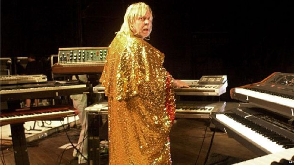Rock musician Rick Wakeman performs in Cuba in 2005