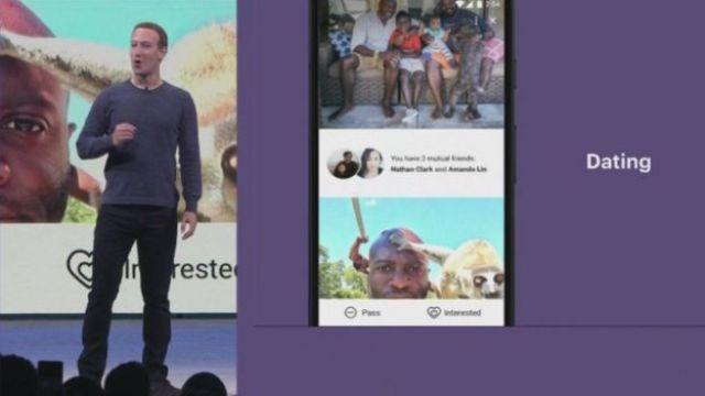 Mark Zuckerberg durante la presentación de Facebook Dating.