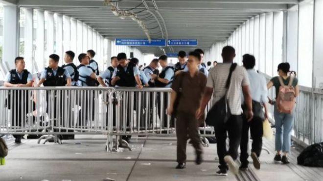 Policemen in Hong Kong