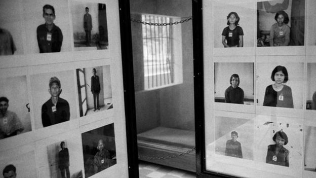 Photos of prisoners executed by the Khmer Rouge