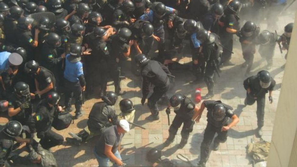 National guardsman in Kiev