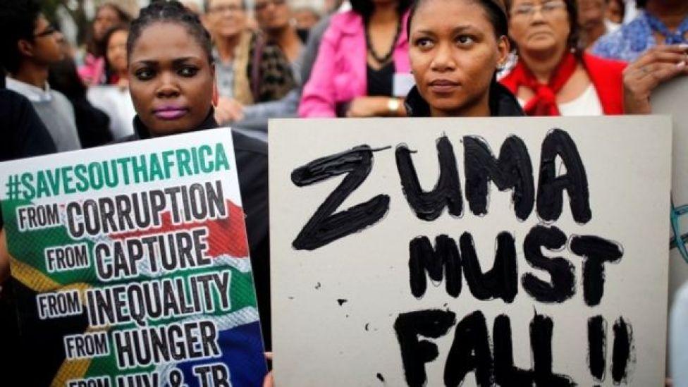 Protesters in Pretoria (file photo)