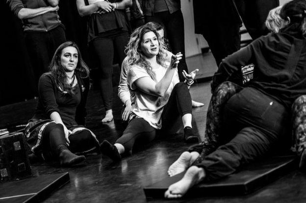 Alicia Rodis choreographing a sex scene