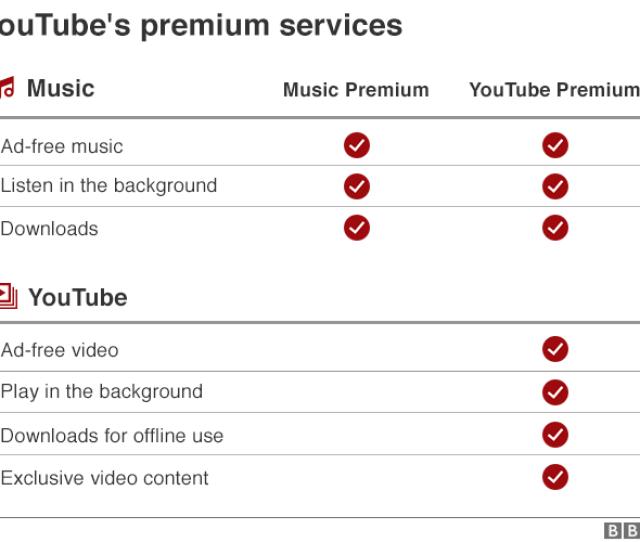 Youtubes Premium Services Compared