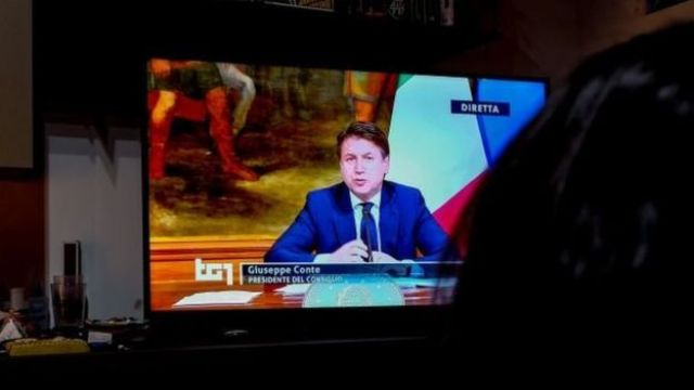 Italy's PM in a TV announcement