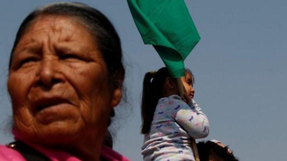 En Ciudad de México protestaron en contra de la violencia contra las mujeres.