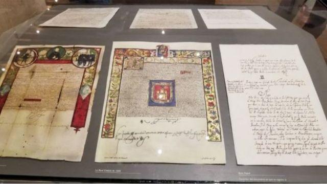 Documento del rey Carlos I