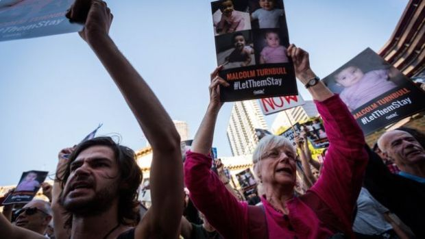 Emotions spilled over as thousands of Melbournians rallied on the steps of the state library in co-ordinated, Australia-wide rallies and chants of