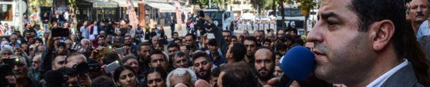 Selahattin Demirtas at a rally in Diyarbakir, Turkey, 30 October
