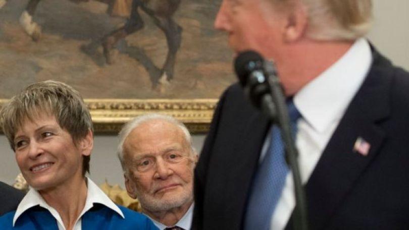 Aldrin num evento na Casa Branca
