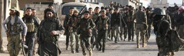 Combatentes na Síria