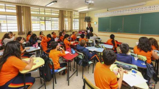 Escola de Curitiba, em foto de 2017