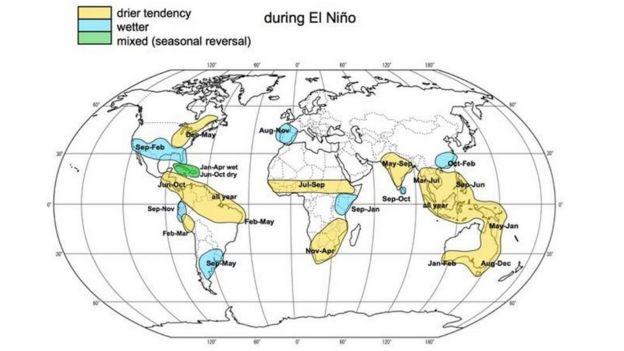 el Nino Map