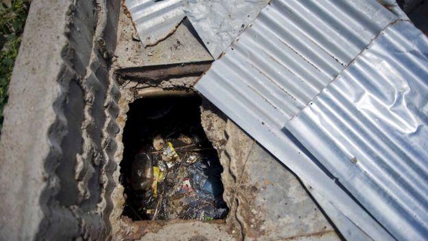 African pit latrine