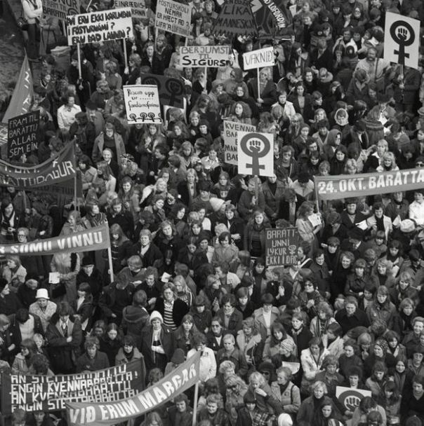 Image result for In Iceland, 90% of women take part in a national strike