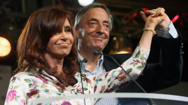 Cristina y Nestor Kirchner