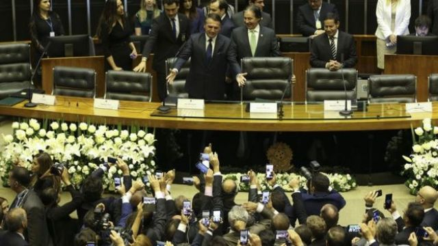 Bolsonaro no plenário