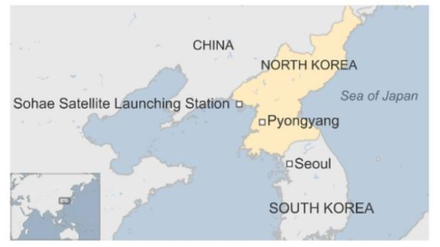 Map of North Korea, Japan