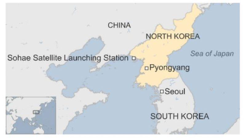 Map of North Korea, Japan