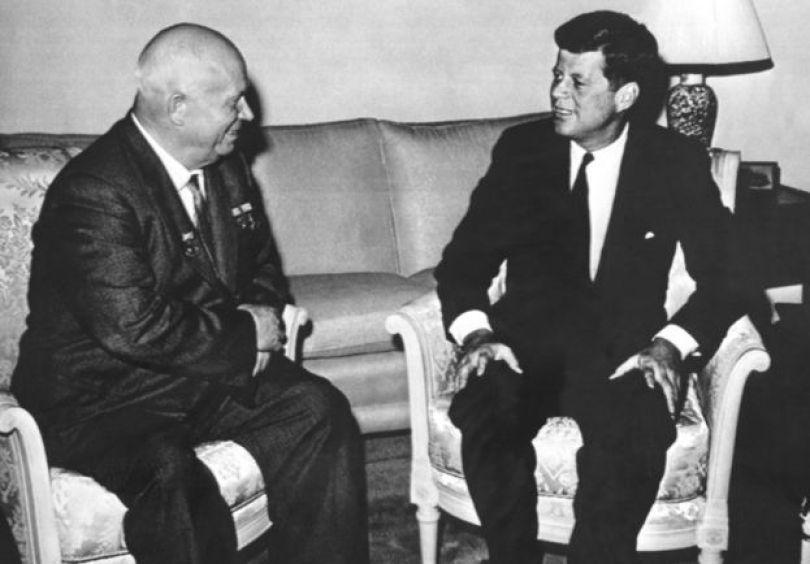 Nikita Khrushchev e J.F.Kennedy