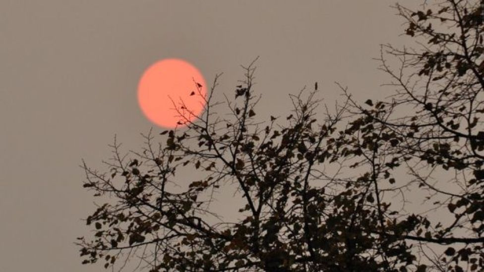 Red sun in Bristol