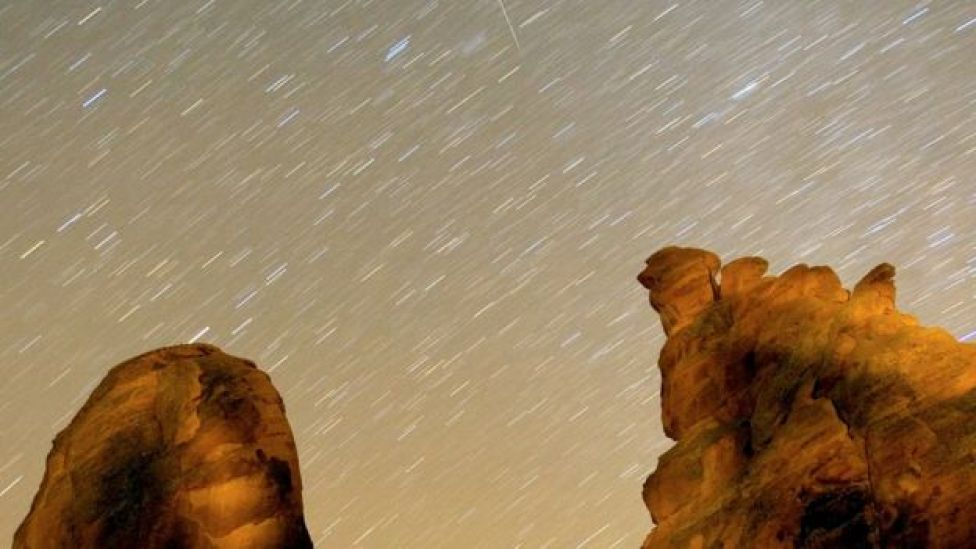 I Geminidi visti dagli Stati Uniti nel 2007