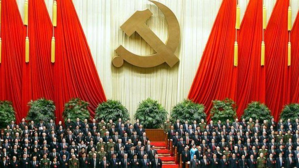 Miembros del Partido Comunista chino en 2002.