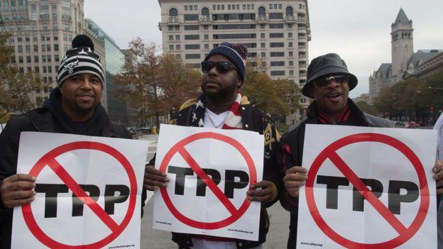 Người phản đối TPP ở Washington DC, ngày 14/11