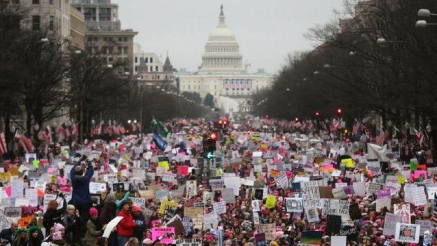 Marcha das mulheres em Washington