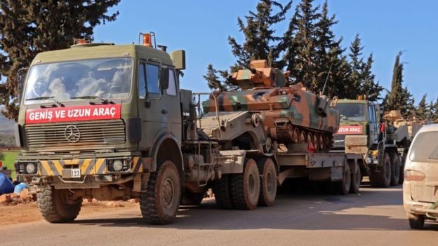 Tanques turcos en Idlib.