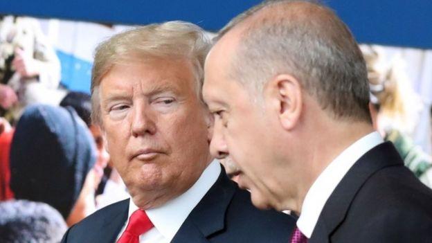 Arrinta baadariga ayaa ah mid ka mid ah arrimaha kala qeybinaya Mr Trump iyo Mr Erdogan