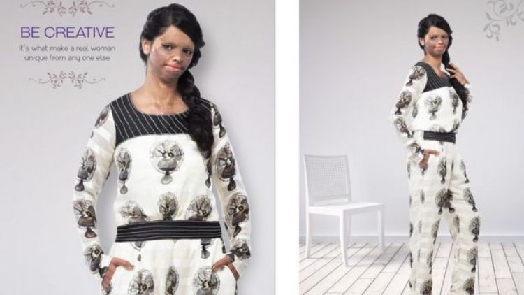 Laxmi Saa models a black and white jumpsuit for Viva N Diva