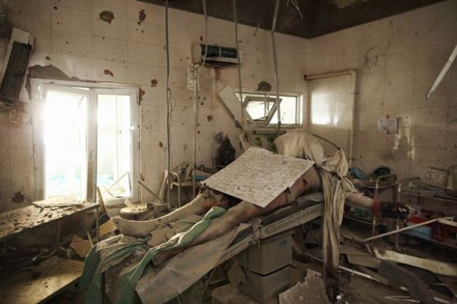 The patient Dr Mohammed Safi Sadiqi was operating on when the hospital was bombed