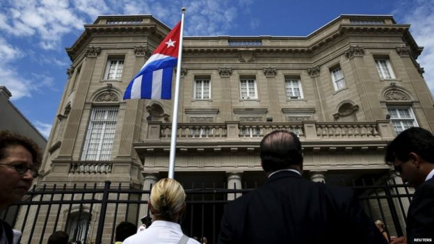 Cuban embassy ceremony in Washington, 20 July 15