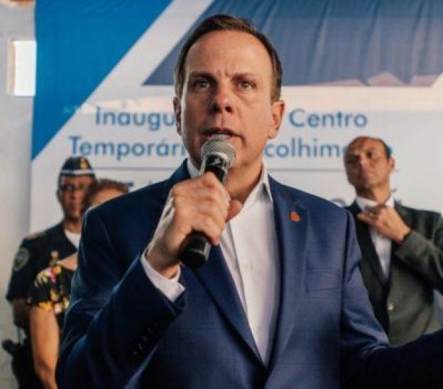 João Doria discursa na inauguração de um posto de saúde