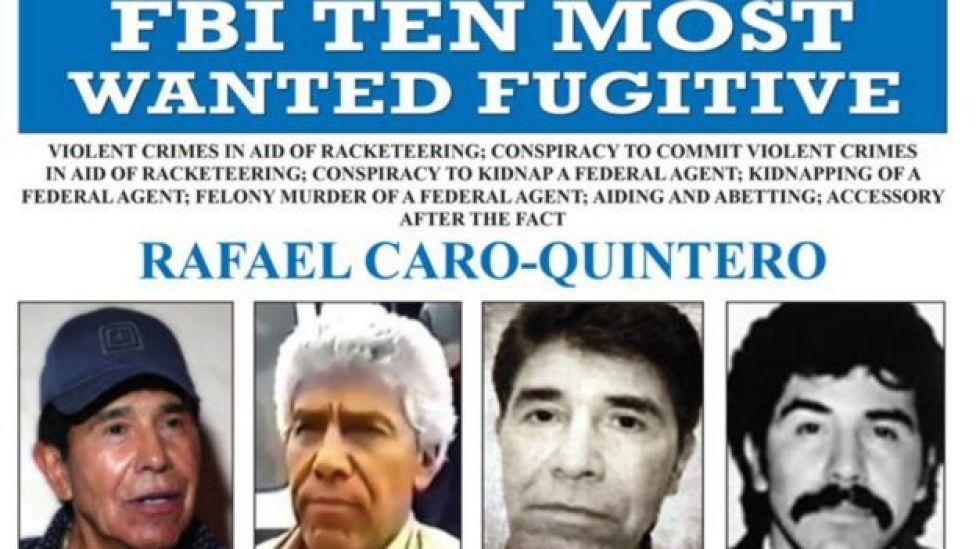 Estados Unidos ofrece US$20 millones por la captura de Rafael Caro Quintero