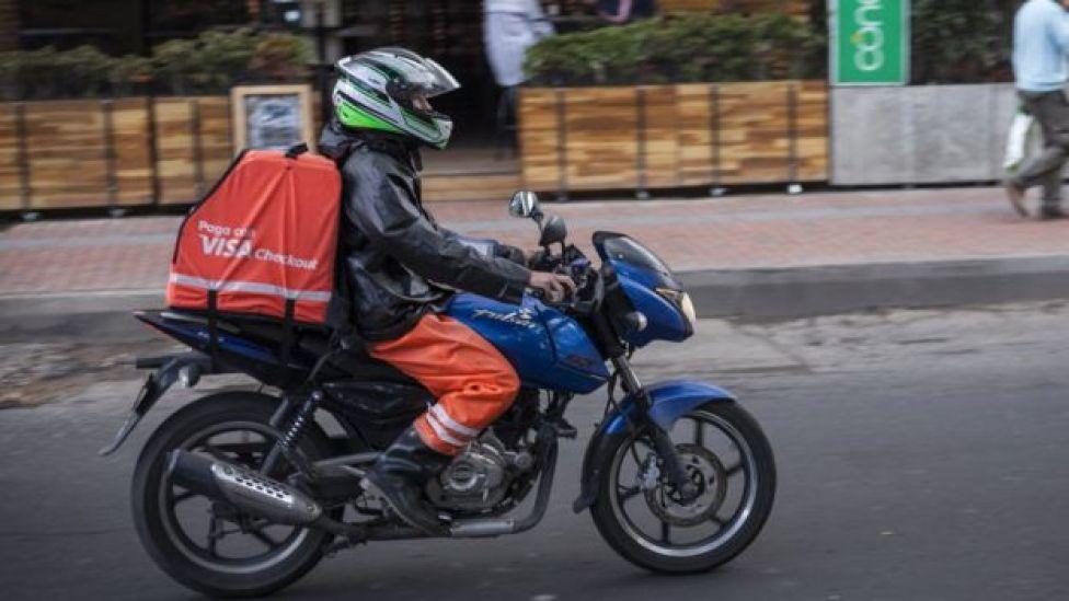 Rappitendero en moto