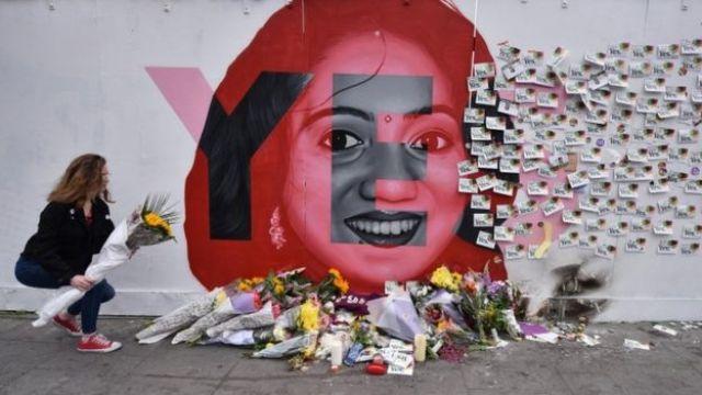 Mural para Savita Halappanavar em Dublin