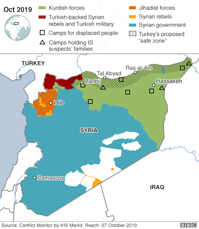 Map of northern Syria