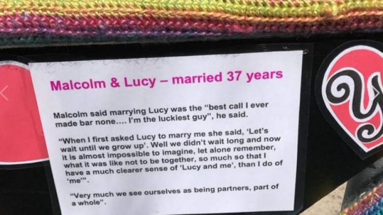 Tribute in words to Lucy Turnbull on the crocheted bicycle