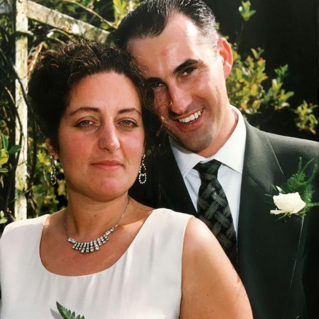 Yve and Maurice Gibney on their wedding day