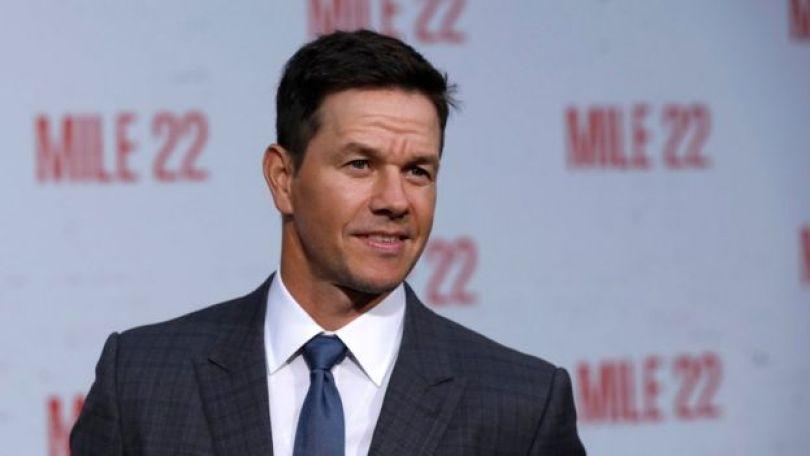 O ator Mark Wahlberg no lançamento do filme 'Mile 22' em Los Angeles, nos EUA, em agosto