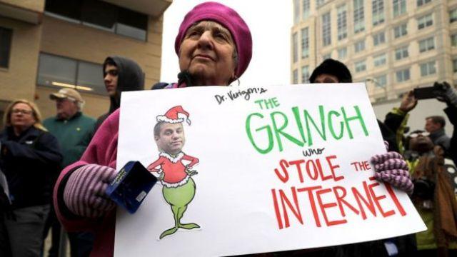 Protesta contra la FCC.