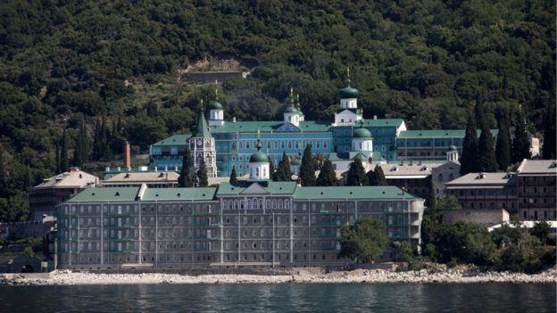 Russian St Panteleimon Monastery, in Mount Athos, Greece (28 May 2016)