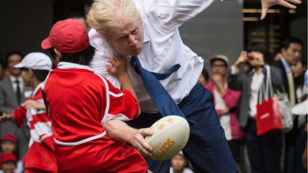 Boris drops the shoulder