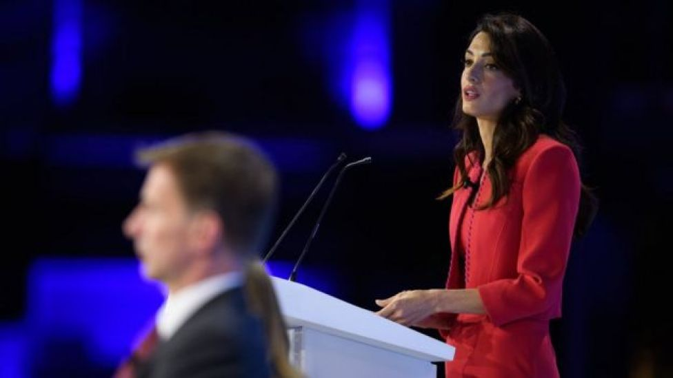 Amal Clooney and Jeremy Hunt