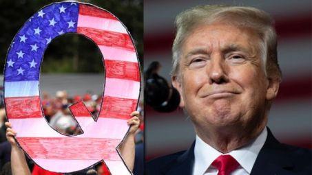 """""""Não sei muito sobre o movimento, exceto que eu gosto muito deles e lhes agradeço"""", disse Trump sobre o QAnon"""
