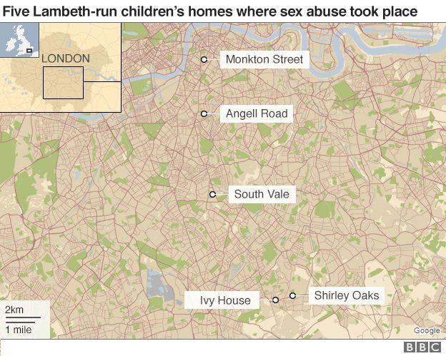 Five Lambeth-run children's homes where sex abuse took place